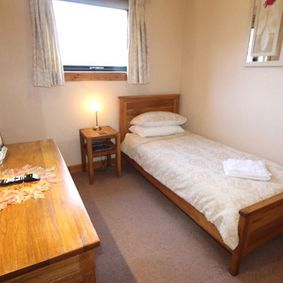 single bed at Hebridean guest house