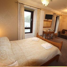 double bed at Hebridean guest house